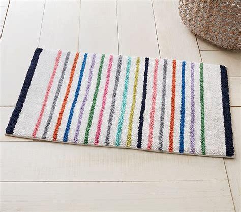 Striped Bath Mat by Multi Stripe Bath Mat Pottery Barn