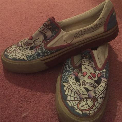 92 vans shoes ed hardy slip on shoes price drop