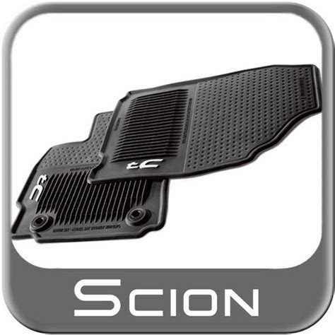 2014 Scion Tc Floor Mats by 2014 2015 Scion Tc Rubber Floor Mats All Weather Charcoal