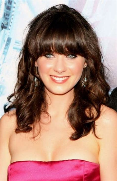 above shoulder wavy hair with bangs hairstyles for women over 40 with bangs best hairstyles