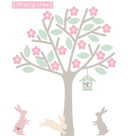 blossom wall stickers blossom tree fabric wall sticker littleprints