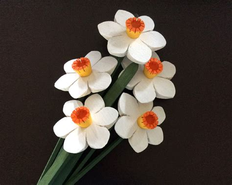 Handmade Wooden Flowers - narcissus flowers handmade wooden flowers bouquet