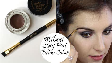 Dijamin Milani Stay Put Brow Color milani stay put brow color review demo bailey b
