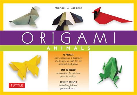 Origami Books For Adults - origami animals make colorful and easy origami animals