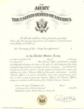 army promotion certificate template 2000 ed army promotion and appoinment certificates