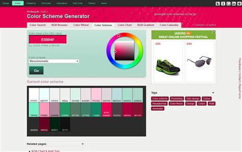 color scheme generator best color tools and articles for designers 187 css author