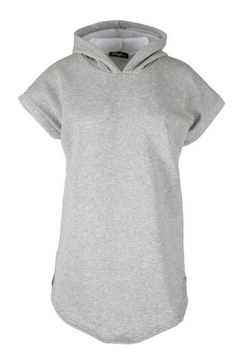 3 4 Sleeve Oversized Sweatshirt womens oversized curved hoodies hem fleece