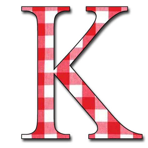 Letter K enchanted s free gingham digi scrapbook