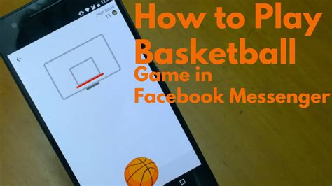 how to play how to play basketball hoops in messenger