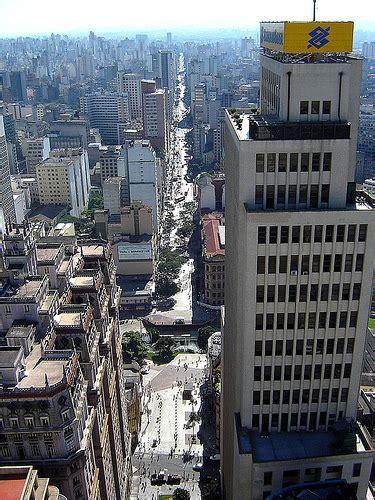 banco s paolo s 227 o paulo av s 227 o jo 227 o vista do alto do edificio do