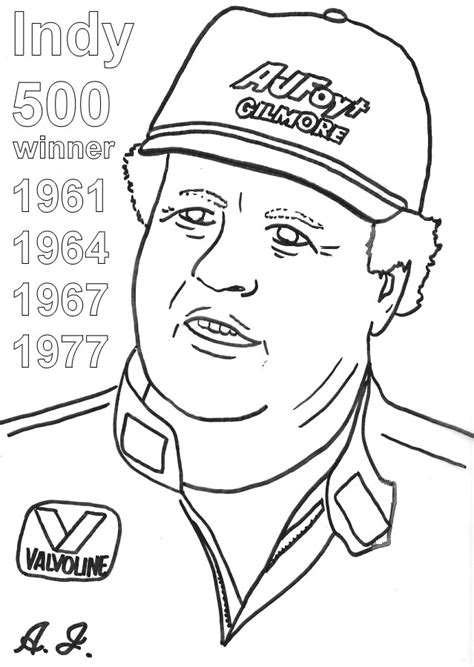 coloring page of race car driver indy kids coloring pages