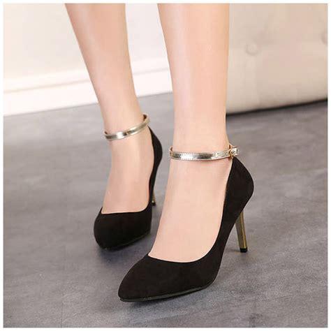 2014 autumn black shoes popular high heels platform