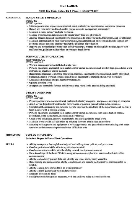 Boiler Plant Operator Sle Resume by Boiler Operator Sle Resume Geog 112 Course Outline Sle Of A Customer Service Resume