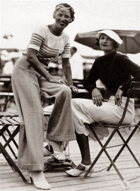 Everyday Women In Their 30 | vintage everyday women in trousers from 1930s 40s