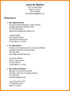 sle resume reference page format a list of references tools 2017