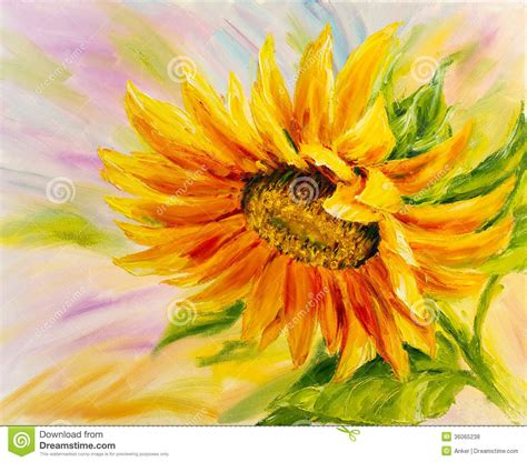 sunflower oil painting royalty free stock photos image 36065238