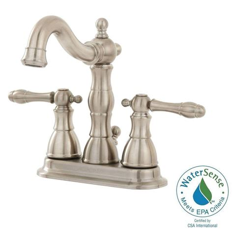 glacier bay lyndhurst bathroom faucet glacier bay lyndhurst 4 in centerset 2 handle bathroom faucet in brushed nickel 67112