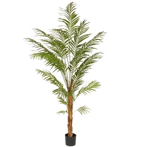 outdoor lighted palm tree home depot nearly natural 63 in uv resistant indoor outdoor