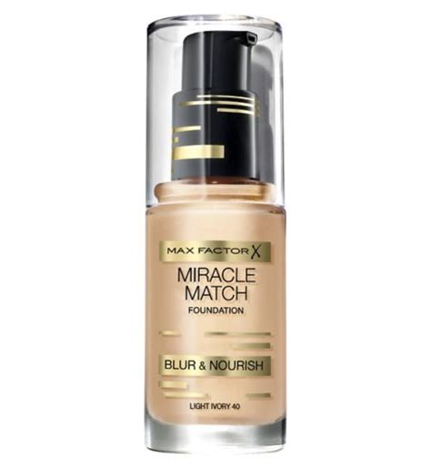 The Miracle Match Free Colour Match Foundation Max Factor Boots