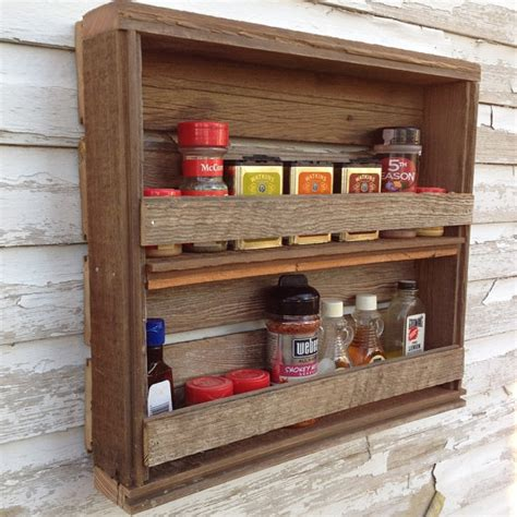 Kitchen Decor On Etsy Items Similar To Wooden Spice Rack Rustic Kitchen Decor