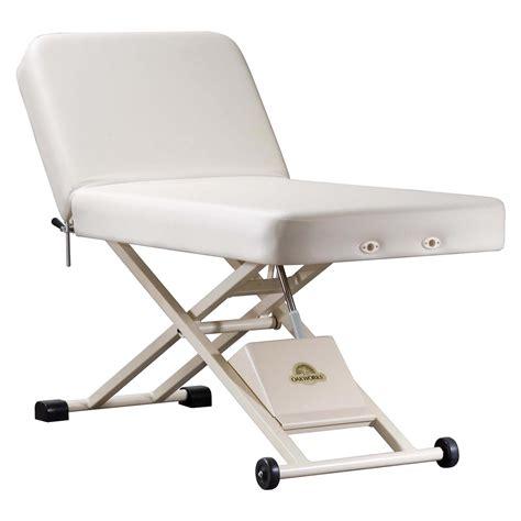 oakworks table oakworks proluxe lift assist backrest table tables