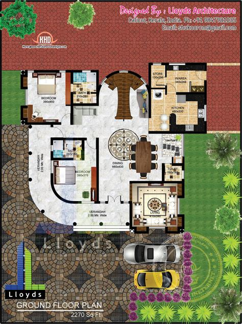 House Floor Plans With Pictures 5 Bedroom Luxurious Bungalow Floor Plan And 3d View