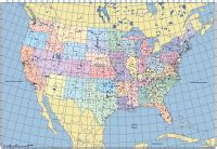 us map with cities latitude and longitude www