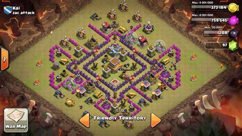 coc layout anti dragon th8 war base anti dragon th8 wong tamfan