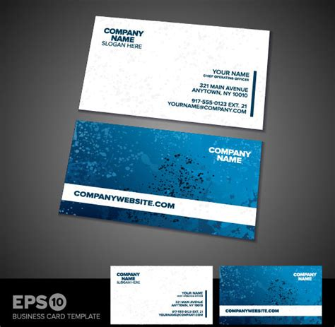 business card templates vector free vector in encapsulated
