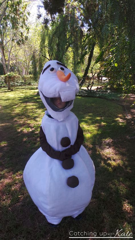 diy olaf costume for