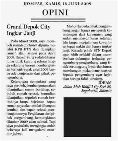 cara membuat tulisan opini di koran contoh artikel opini di koran contoh u