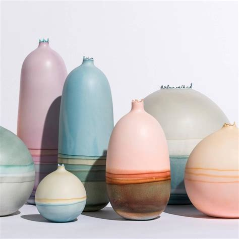 Unique Bud Vases by Unique Handmade 21st Century Sand And Dip Dyed Bud