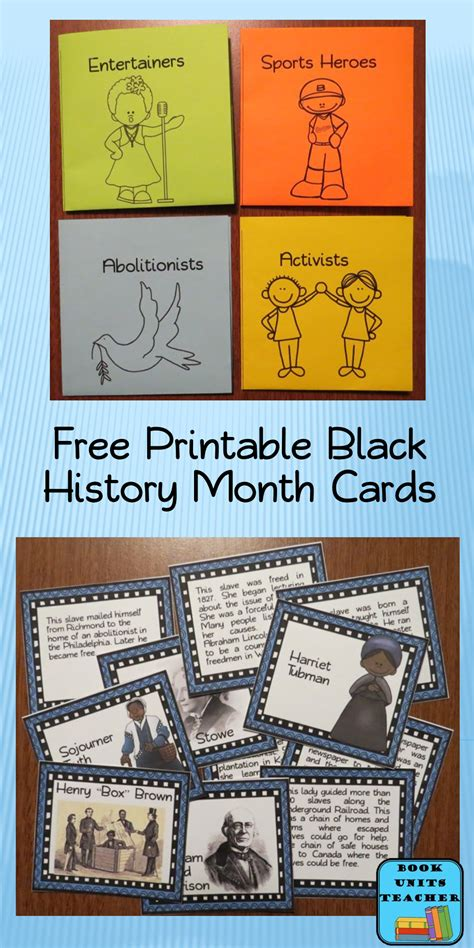 cards history black history month abolitionists book units