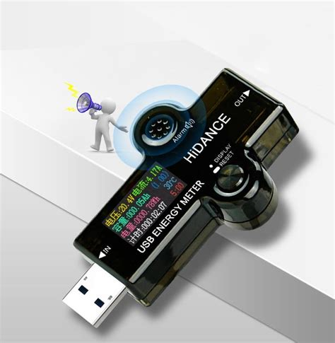 usb dc dijital renkli ekran voltmetre ampermetre
