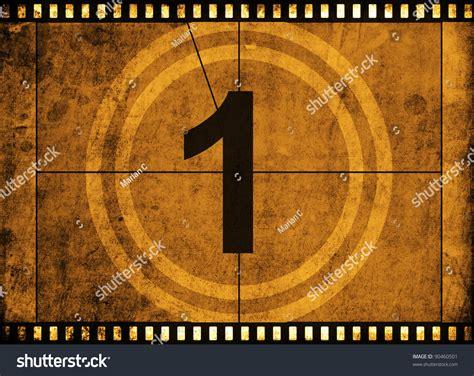 Movie Film Strip With Countdown Number On Grunge Filmstrip Countdown