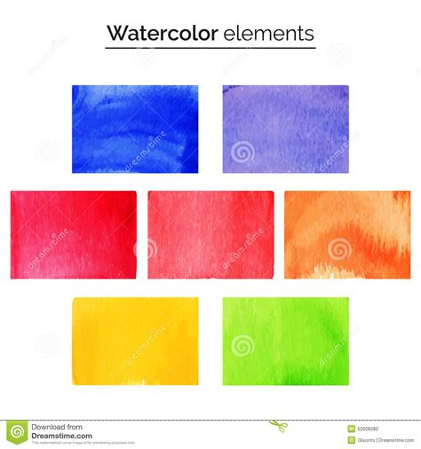 design elements watercolor multicolored watercolor design elements set isolated