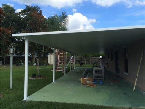 kissimmee 16 by 60 foot aluminum roof haggetts aluminum