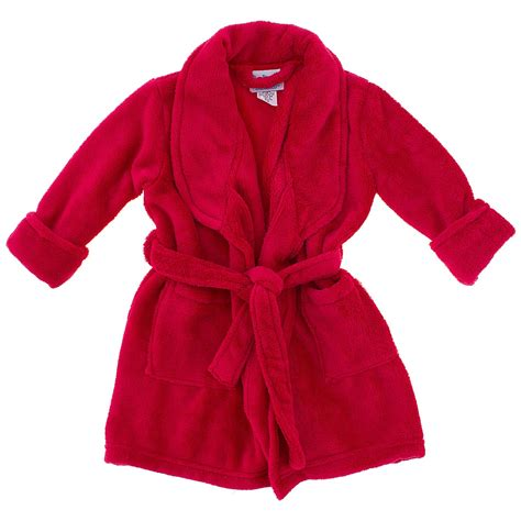 bathroom robes red plush bath robe for boys