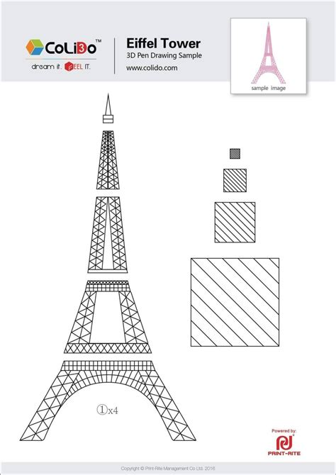 Eiffel Tower Cake Template Sletemplatess Sletemplatess Eiffel Tower Cake Template