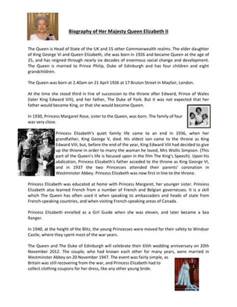 ks2 biography queen elizabeth ii biography of queen elizabeth ii by sjshardlow teaching