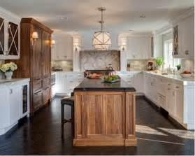 Glass Backsplash Ideas For Kitchens mixed wood cabinets home design ideas pictures remodel