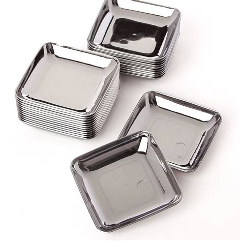Western Decorations For Home small silver plastic appetizer plates mini kitchen