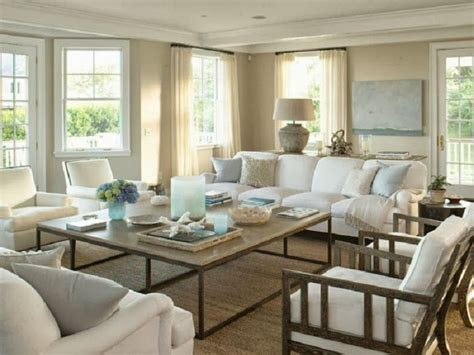 Lounge Room Styling Chic Coastal Living Htons Style Design Houses