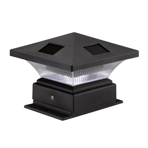 Solar Post Cap Lights Outdoor Westinghouse Pagoda Black Solar 4x4 Post Cap Outdoor Garden Landscape Led Light Ebay