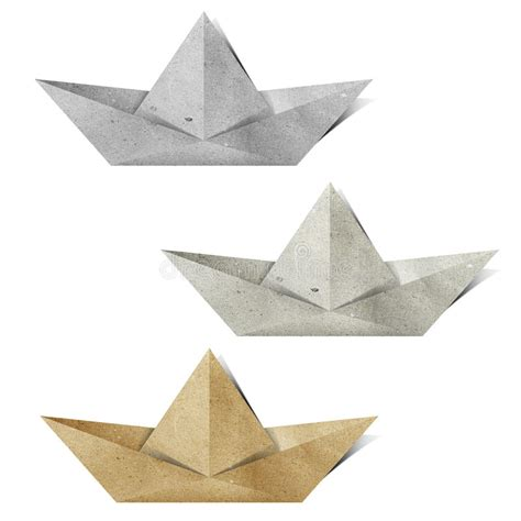 Recycled Origami Paper - origami paper boat recycled paper craft stock illustration