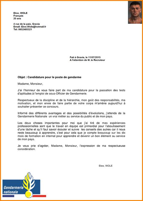 Lettre De Motivation De Gendarmerie Lettre De Motivation Stage 3eme Gendarmerie