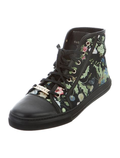 gucci flora sneaker gucci flora high top sneakers shoes guc145344