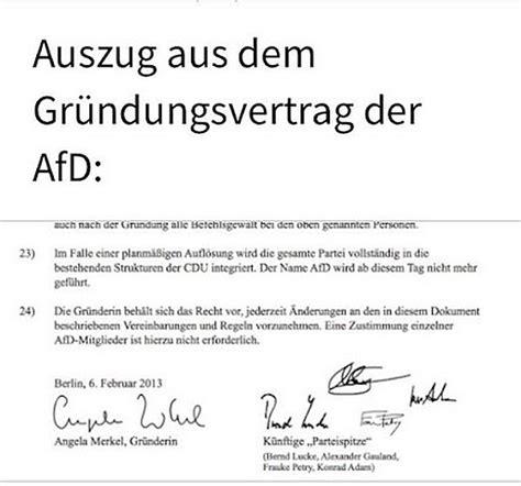 Muster Kündigung Mietvertrag Eine Partei Afd In Wahrheit Merkel Gegr 252 Ndete Partei Um Volk