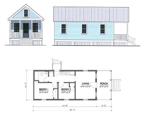 katrina cottage floor plan katrina cottage floor plans katrina cottage pinterest