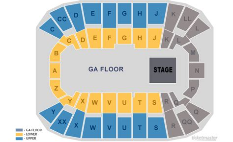 mullins center seating chart mullins center seating charts
